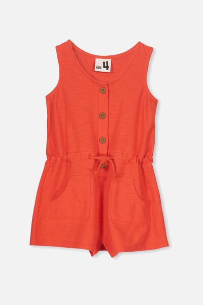 Eddi Playsuit, ENGINE RED SLUB