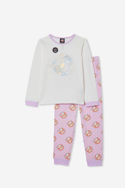 Florence Long Sleeve Pyjama Set Licensed, LCN SON GHOSTBUSTERS RAINBOW/VANILLA