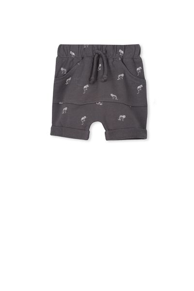 Teddy Short, GRAPHITE GREY/LITTLE LEOPARDS