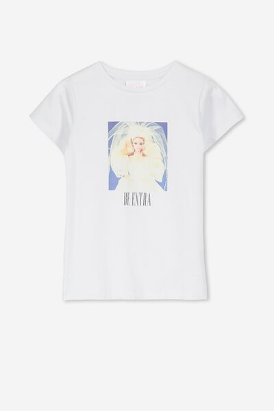 Lux Short Sleeve Tee, LCN MAT/WHITE/BARBIE EXTRA