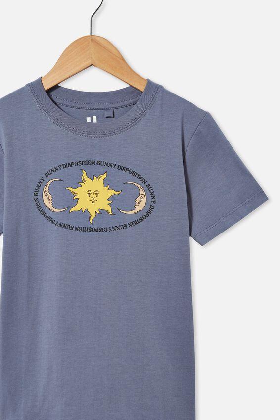 Max Skater Short Sleeve Tee, STEEL / SUN MOON