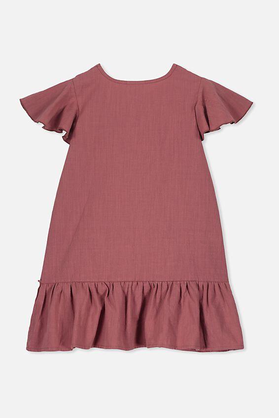 Lola Short Sleeve Dress, HENNA