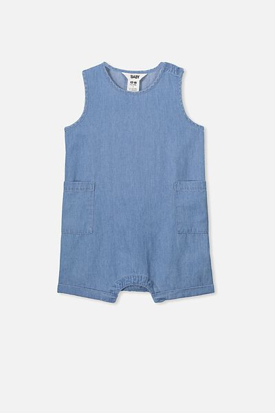 Nate Romper, CHAMBRAY