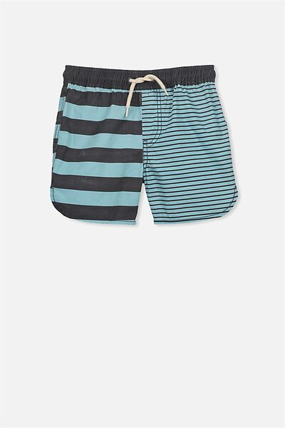 Murphy Swim Short, SHELL BLUE/GRAPHITE MULTI STRIPE
