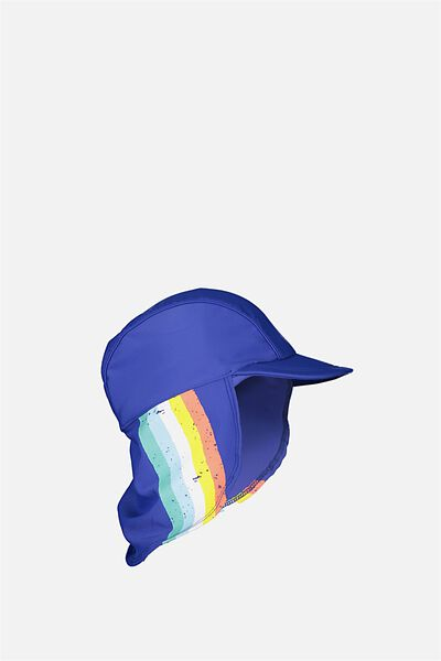 Swim Hat, BLUE/STRIPE
