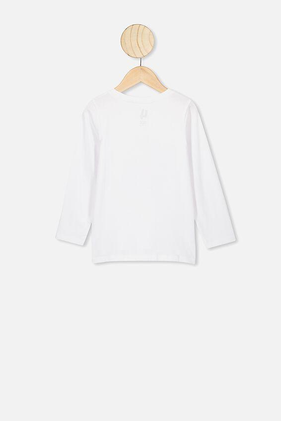 Penelope Long Sleeve Tee, WHITE/SASSY UNICORN HAIR