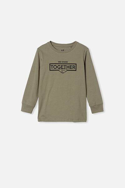 Tom Long Sleeve Tee, SWAG GREEN/STAND TOGETHER