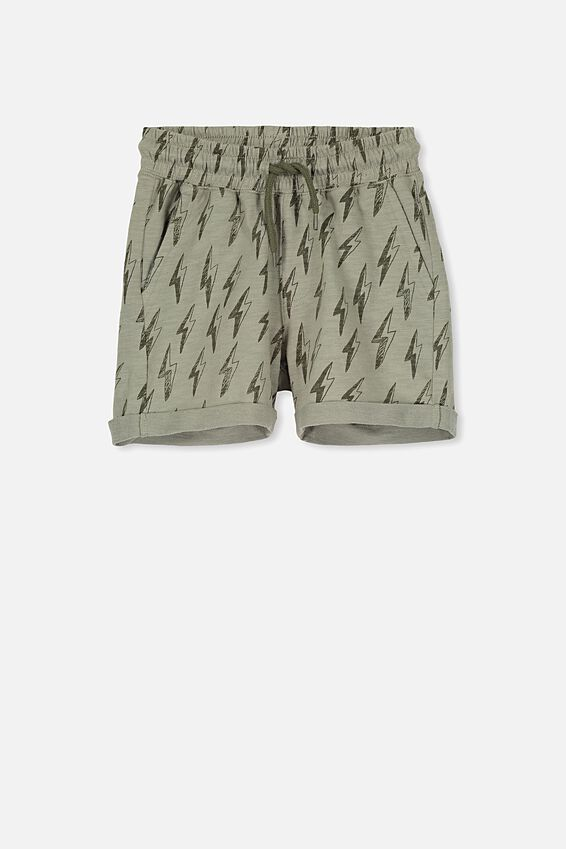 Henry Slouch Short, SILVER SAGE/BOLTS