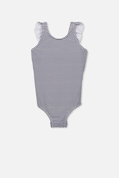 Ebony One Piece Swimsuit, PEACOAT PINSTRIPE