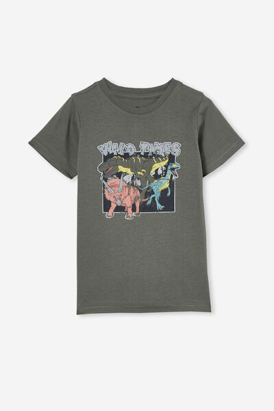 Max Skater Short Sleeve Tee, SWAG GREEN/WILD TIMES DINO