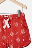 Gianna Knit Short, LUCKY RED/ POSEY