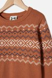 Blake Knit, AMBER BROWN/NORDIC