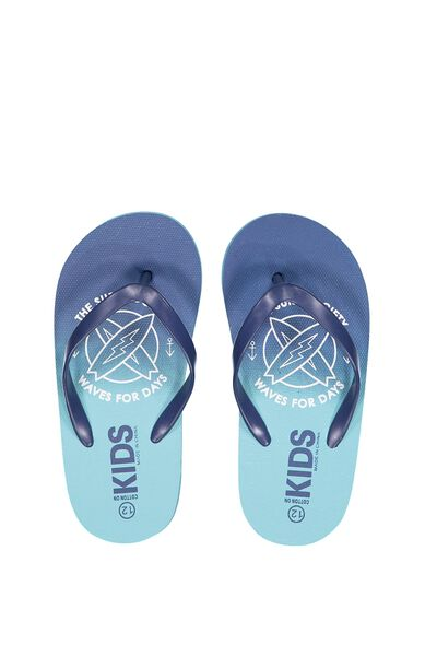 Printed Flip Flop, B SURF SOCIETY