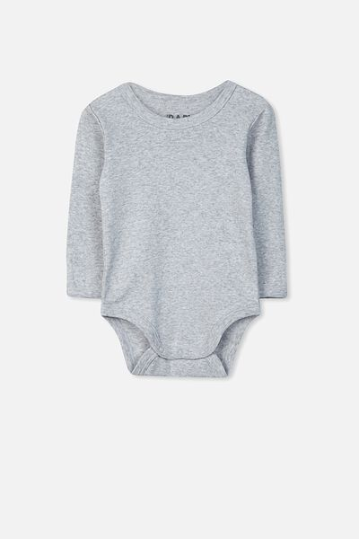 Newborn Long Sleeve Bubbysuit, CLOUD MARLE