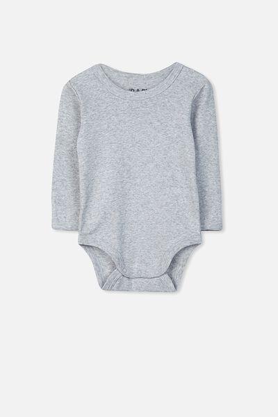 Newborn Long Sleeve Bubbysuit, CLOUD MARLE