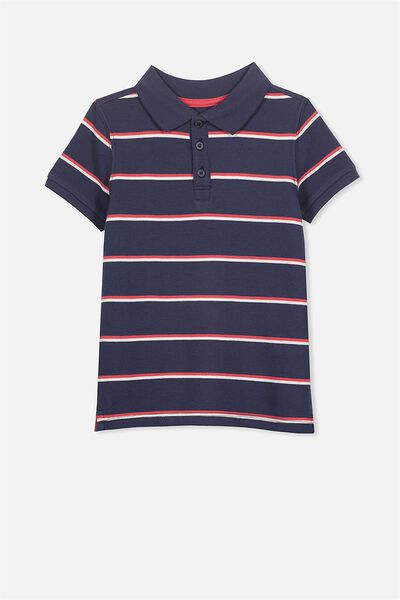 Kenny3 Polo, WASHED NAVY/SWIM STRIPE