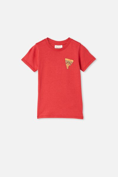 Short Sleeve License1 Tee, LCN NIC LUCKY RED / NINJA TURTLES