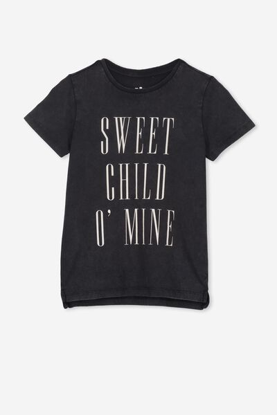 Lux Short Sleeve Tee, LCN BR BLACK WASH/SWEET CHILD O'MINE/MAX