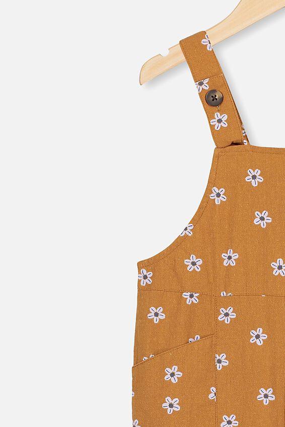 Kip&Co Gabriella jumpsuit, LCN KIP/CARAMEL TOFFEE/DAINTY FLOWERS