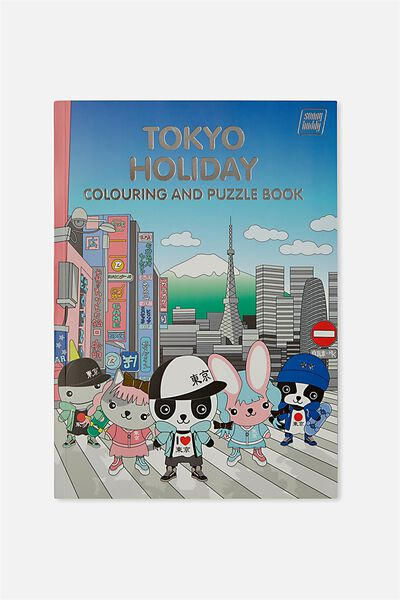 Sunny Buddy Colouring In Book, TOKYO