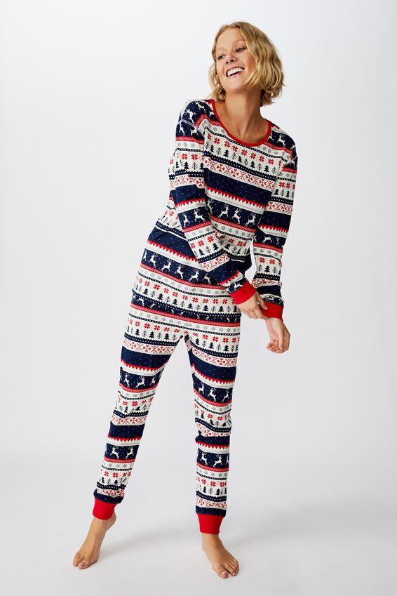 Adults Christmas Unisex PJ Set, XMAS FAIRISLE