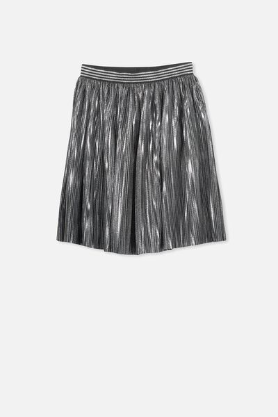 Kelis Dress Up Skirt, SILVER