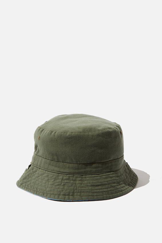 Reversible Bucket Hat, KHAKI PALM