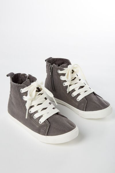 Vintage Hi Top, WASHED GRAPHITE