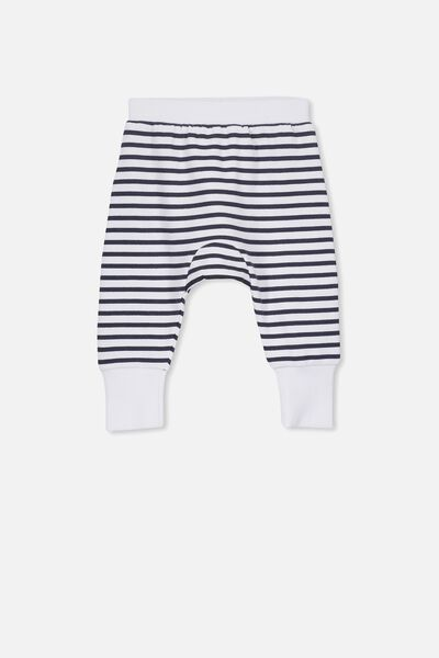 Charlie Trackpant, WHITE/INDIAN INK STRIPE