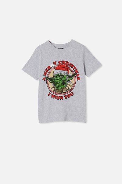 Co-Lab Short Sleeve Tee, LCN LU LT GREY MARLE/ YODA