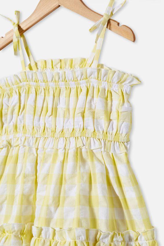 Annika Sleeveless Dress, LEMON DROP GINGHAM