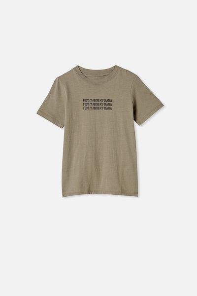 Max Skater Short Sleeve Tee, SILVER SAGE/I GOT IT FROM MY MAMA