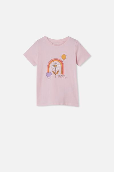 Penelope Short Sleeve Tee, PINK QUARTZ/FUTURE IS BEAUTIFUL