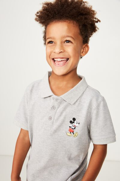 Kenny 3  Polo, LCN DIS/LIGHT GREY MARLE/MICKEY MOUSE