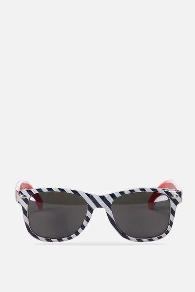 Kids Sunglasses, NAVY DIAGONAL STRIPE