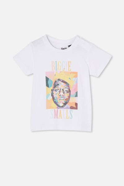 Jamie Short Sleeve Tee-License, LCN MT WHITE/ABSTRACT BIGGIE