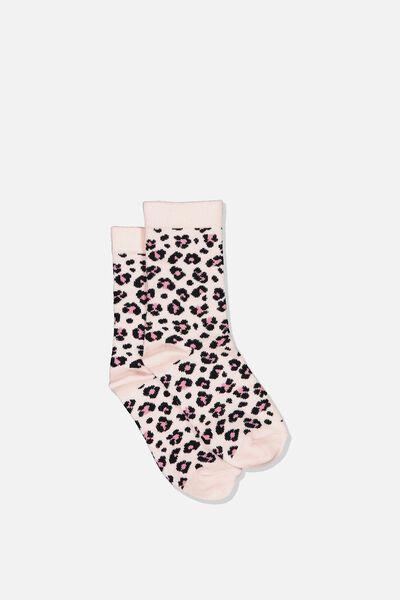 Fashion Kooky Socks, PEACH ANIMAL