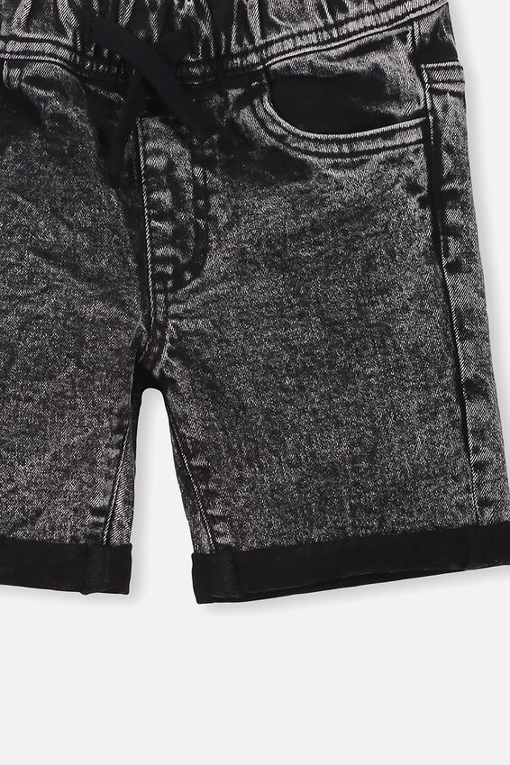 Flex Dnm Short, WASHED BLACK