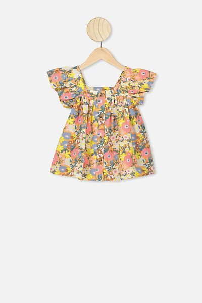 Polly Placket Sleeveless Top, NTH MEADOW FLORAL