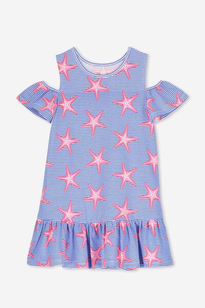 Miranda Dress, PRINCESS BLUE STRIPE/STARFISH