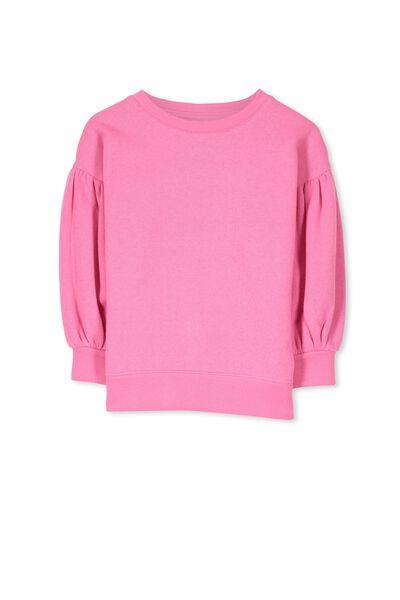 Sage Puff Sleeve Sweatshirt, AZALEA PINK