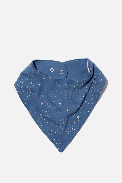 The Kerchief Bib, PETTY BLUE/SCATTER STARS