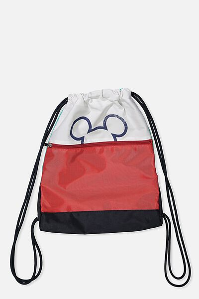 Fashion Drawstring Backpack, MICKEY/COLOUR BLOCK