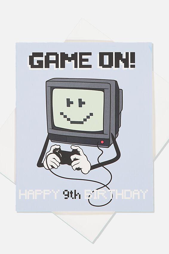 Alex Birthday Card, 9TH BIRTHDAY GAMER