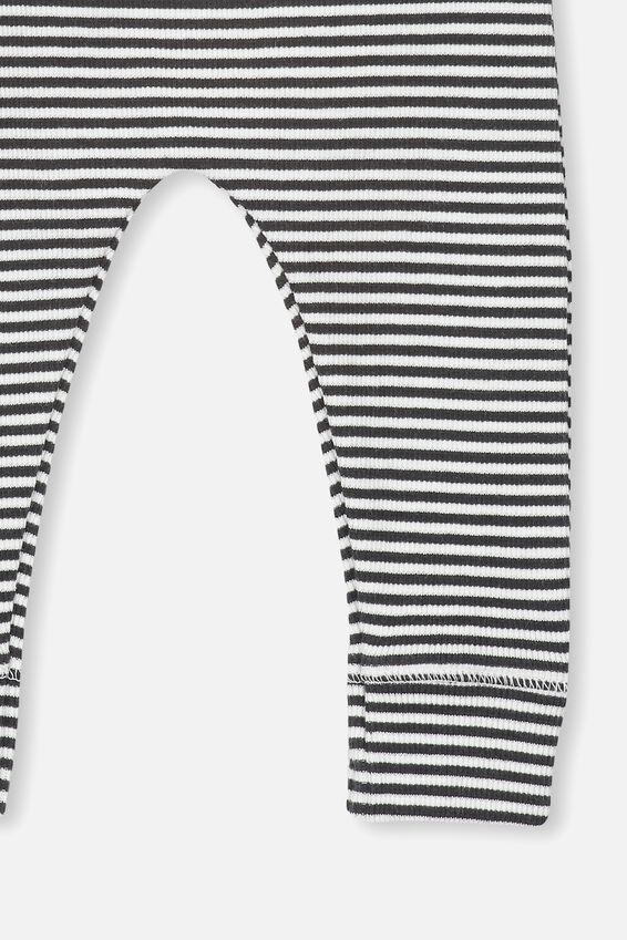 Mini Rib Legging, PHANTOM/VANILLA FEEDER STRIPE