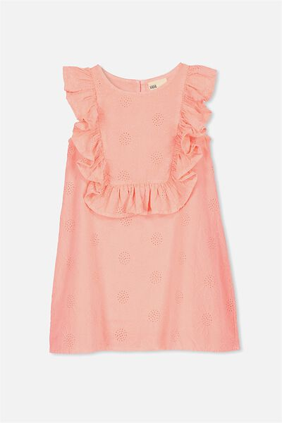 Agnes Frill Dress, FIZZY PINK BRODERIE