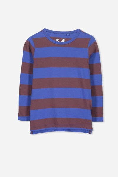 Tom Long Sleeve Tee, RUGBY STRIPES/SIS