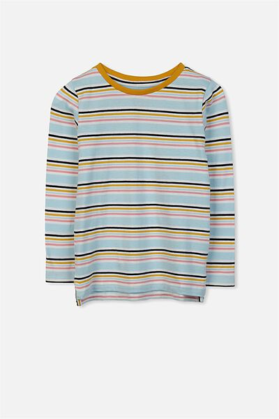 Penelope Long Sleeve Tee, VANILLA/MULTI STRIPE/SET IN