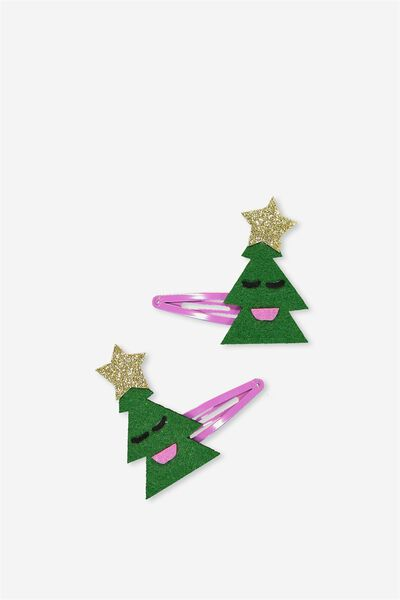 Christmas Hair Clips, CHRISTMAS TREE