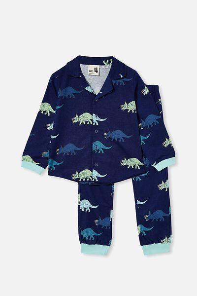 William Long Sleeve Pyjama Set, DINOS / INDIGO